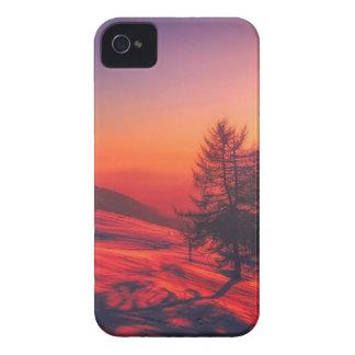 Snowy Evening Sunset iPhone 4 Case