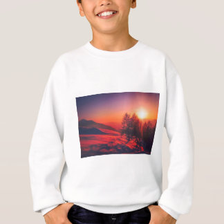 Snowy Evening Sunset Sweatshirt