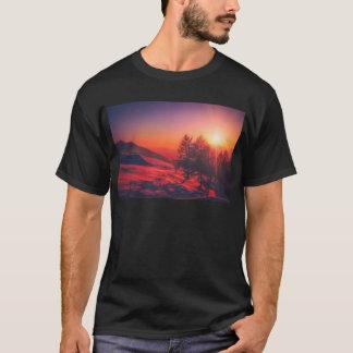 Snowy Evening Sunset T-Shirt