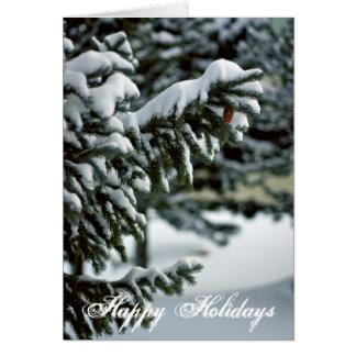 Snowy Evergreen Tree Card