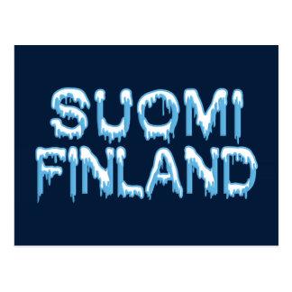 Snowy Finland postcard, customize Postcard