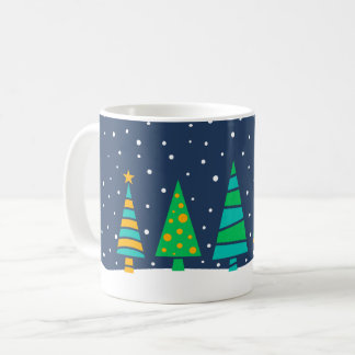 Snowy Fir Trees Mug