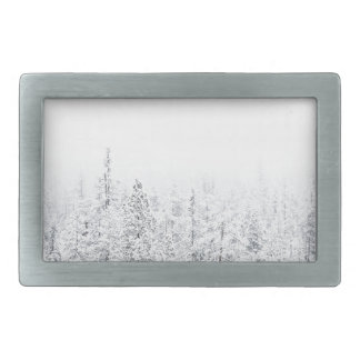 Snowy forest belt buckles