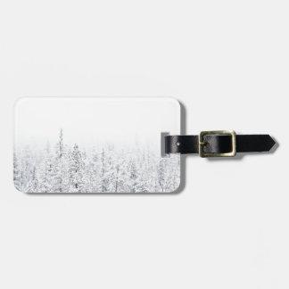 Snowy forest luggage tag