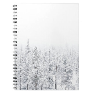 Snowy forest notebook
