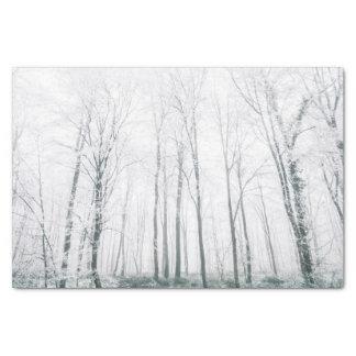 Snowy forest tissue paper