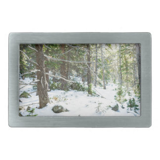 Snowy Forest Wilderness Playground Belt Buckles