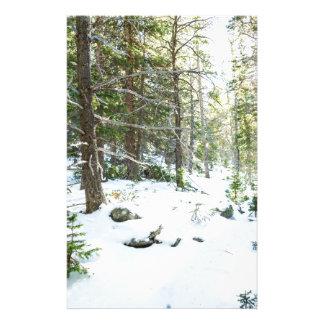 Snowy Forest Wilderness Playground Stationery