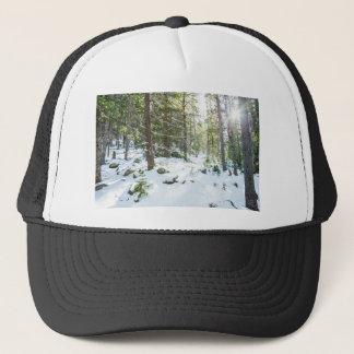 Snowy Forest Wilderness Playground Trucker Hat