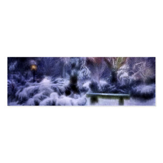 Snowy Forest Winter Wonderland Mini Business Card
