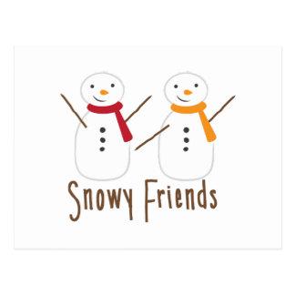 Snowy Friends Postcard