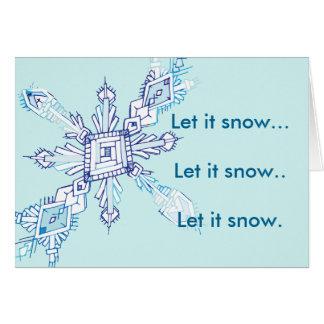 Snowy glee card