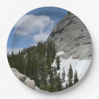 Snowy Granite Domes II Yosemite National Park 9 Inch Paper Plate