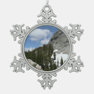 Snowy Granite Domes II Yosemite National Park Snowflake Pewter Christmas Ornament