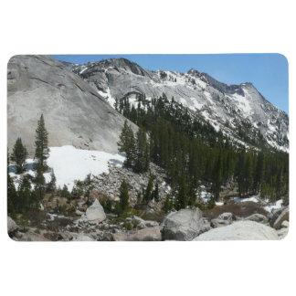 Snowy Granite Domes Panorama at Yosemite Floor Mat