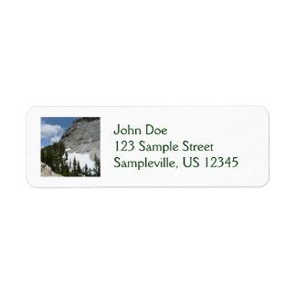 Snowy Granite Domes Return Address Label