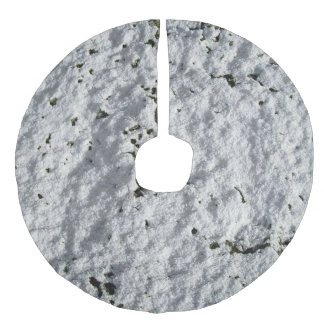 Snowy ground faux linen tree skirt
