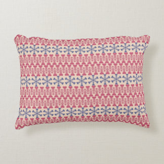 Snowy Hearts Accent Pillow