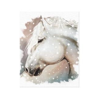 Snowy Horse on Cavas Canvas Print