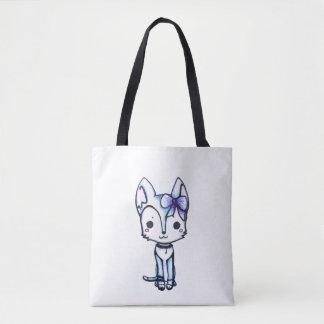 Snowy Husky Tote Bag