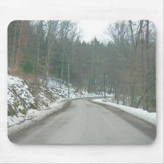 Snowy Jenks Road Mouse Pad