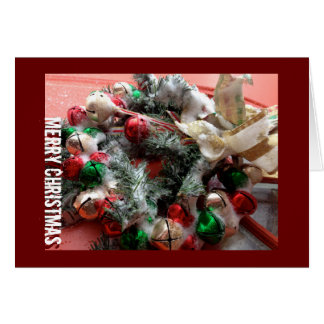 Snowy Jingle Bells and Merry Christmas! Greeting Card