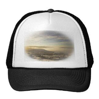 Snowy lake trucker hat