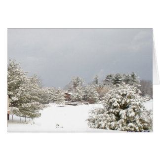 snowy lake winter scene notecard
