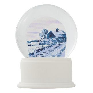 Snowy Landscape Farmhouse Snow Globe