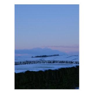 Snowy Landscape In Yorkshire At Dawn Postcard