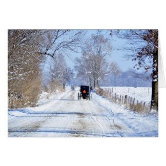 Snowy Lane in Amish Country Card