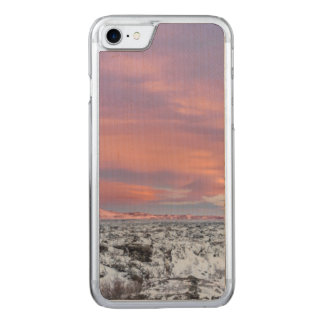 Snowy Lava field landscape, Iceland Carved iPhone 7 Case
