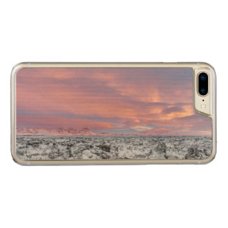 Snowy Lava field landscape, Iceland Carved iPhone 7 Plus Case