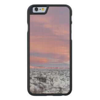 Snowy Lava field landscape, Iceland Carved Maple iPhone 6 Case