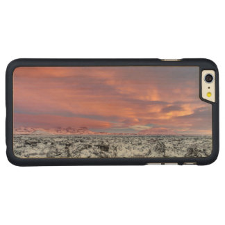 Snowy Lava field landscape, Iceland Carved Maple iPhone 6 Plus Case