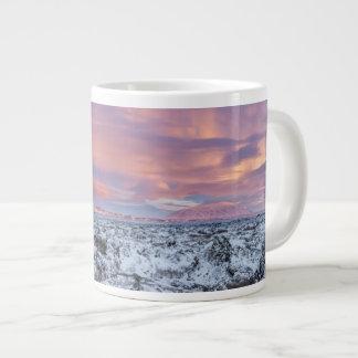 Snowy Lava field landscape, Iceland Giant Coffee Mug