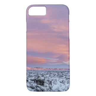 Snowy Lava field landscape, Iceland iPhone 7 Case