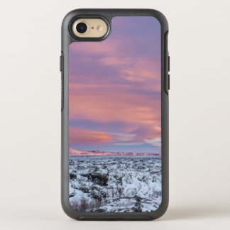 Snowy Lava field landscape, Iceland OtterBox Symmetry iPhone 7 Case