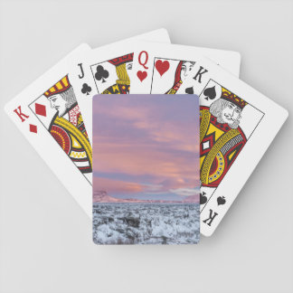 Snowy Lava field landscape, Iceland Playing Cards