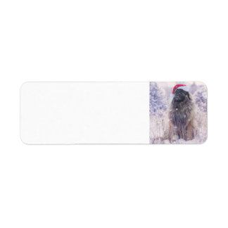 snowy leonberger return address label