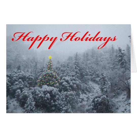 Snowy Lights Christmas card