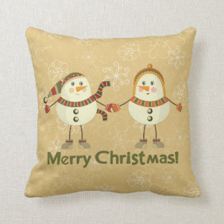 "Snowy Love Christmas Cotton Pillow 16"" x 16"""