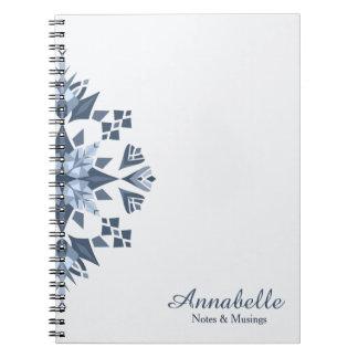 Snowy Mandala-Spiral Notebook