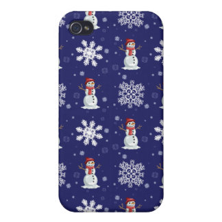 Snowy Men iPhone 4/4S Cases