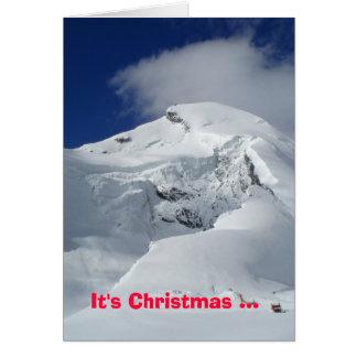Snowy mountain card