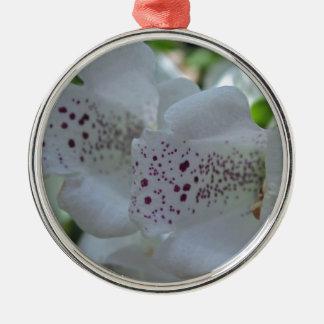 Snowy Mountain Digitalis Silver-Colored Round Ornament