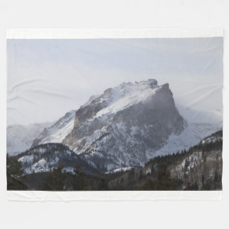 Snowy Mountain Fleece Blanket