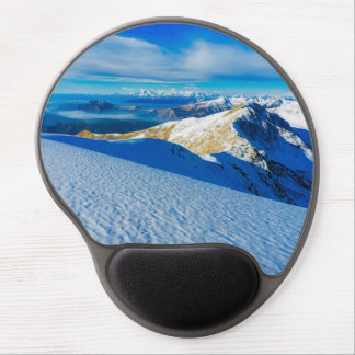 Snowy mountain in Italy Gel Mouse Pad