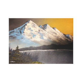 Snowy Mountain Landscape Canvas Print