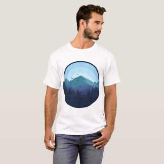 Snowy Mountain Landscape Man Shirt